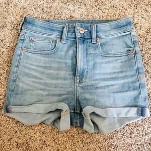 American eagle high waisted stretch jean shorts